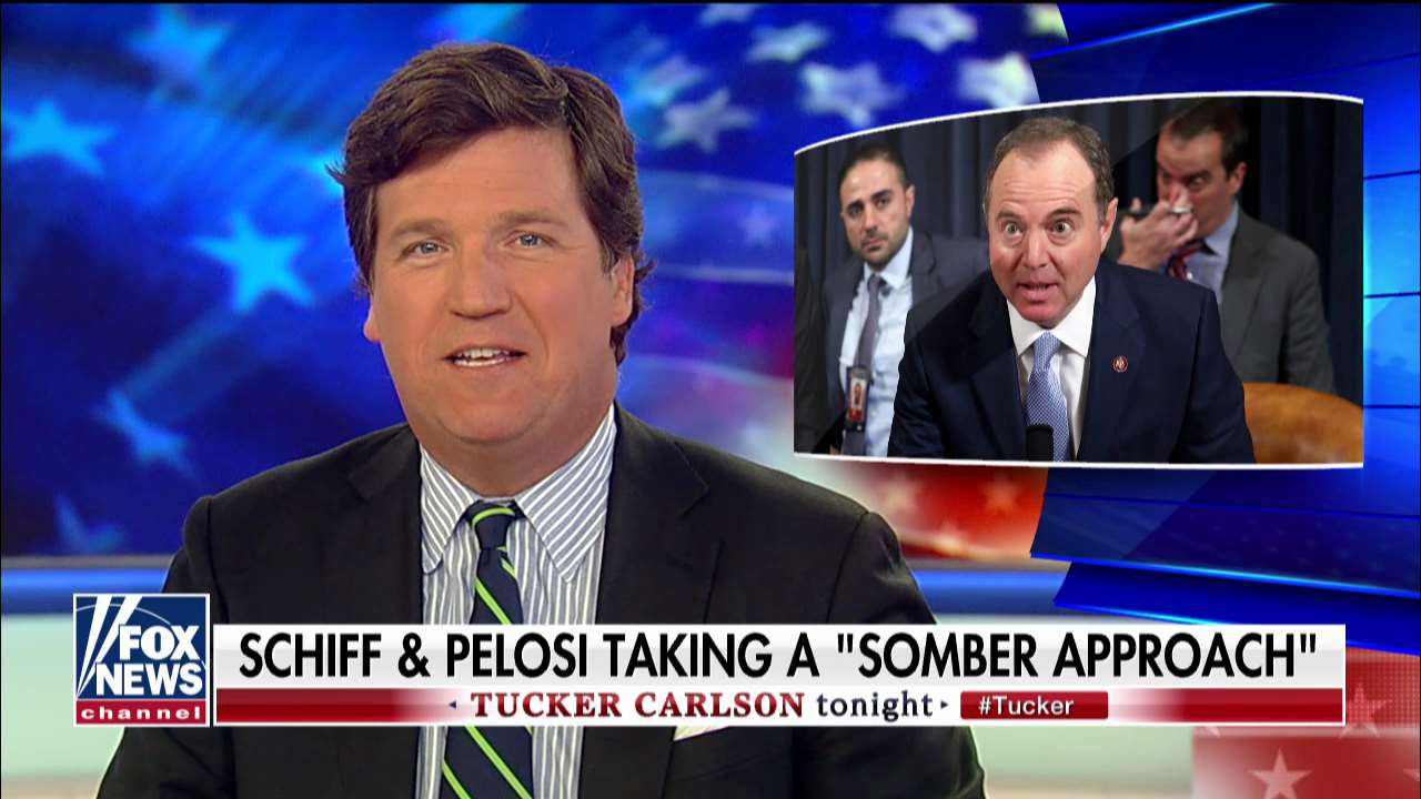 Westlake Legal Group ENC3_132200680530680000 Tucker Carlson: Pelosi deployed meaningless 'cliches' to defend Democrats' 'somber approach' to impeachment fox-news/shows/tucker-carlson-tonight fox-news/politics/trump-impeachment-inquiry fox-news/person/nancy-pelosi fox-news/person/donald-trump fox-news/person/adam-schiff fox-news/media/fox-news-flash fox-news/media fox news fnc/media fnc Charles Creitz article 19c9111d-88dd-5843-acab-57da3b8ab115
