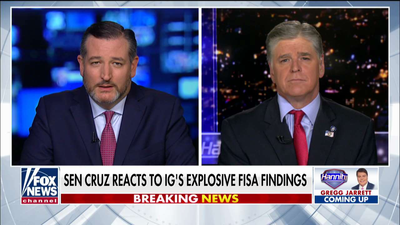 Westlake Legal Group ENC3_132204181250230000 Ted Cruz: Horowitz report shows FBI was 'utterly negligent' at best, 'complicit' in abuse of power at worst fox-news/shows/hannity fox-news/politics/justice-department fox-news/person/ted-cruz fox-news/person/donald-trump fox-news/news-events/russia-investigation fox-news/media/fox-news-flash fox-news/media fox news fnc/media fnc Charles Creitz article 99fe4bae-f159-580e-ae9d-c8dab54a5f10