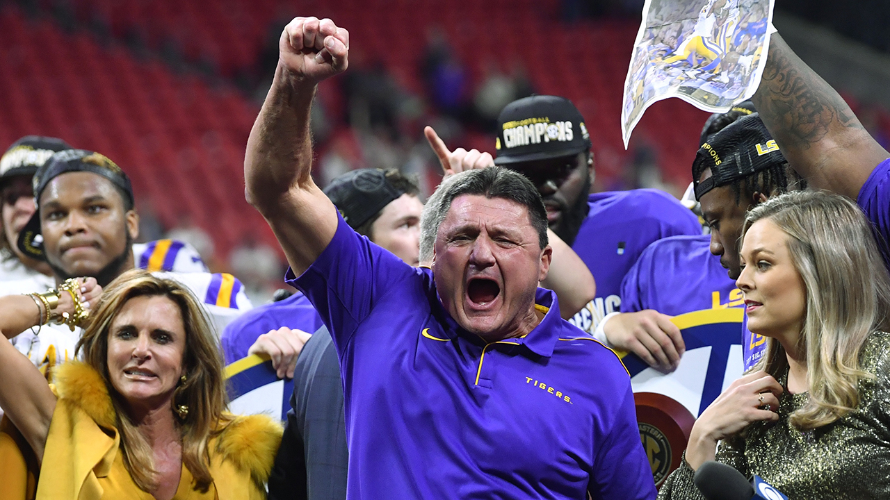 Westlake Legal Group Ed-Orgeron3 USC passed on Ed Orgeron because of the way he sounds, college football insider theorizes Ryan Gaydos fox-news/sports/ncaa/usc-trojans fox-news/sports/ncaa/lsu-tigers fox-news/sports/ncaa-fb fox-news/sports/ncaa fox news fnc/sports fnc article 3f6579f7-34d5-5dc6-ad7e-9a3ee7e59d68