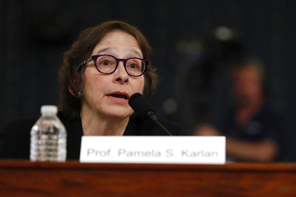 Westlake Legal Group Karlan120519 Impeachment witness who invoked Barron Trump floated by liberal group for Supreme Court Sam Dorman fox-news/politics/trump-impeachment-inquiry fox-news/politics/judiciary/supreme-court fox-news/politics/judiciary fox news fnc/politics fnc article 8d627510-b29b-5853-9907-1c8ab49459aa