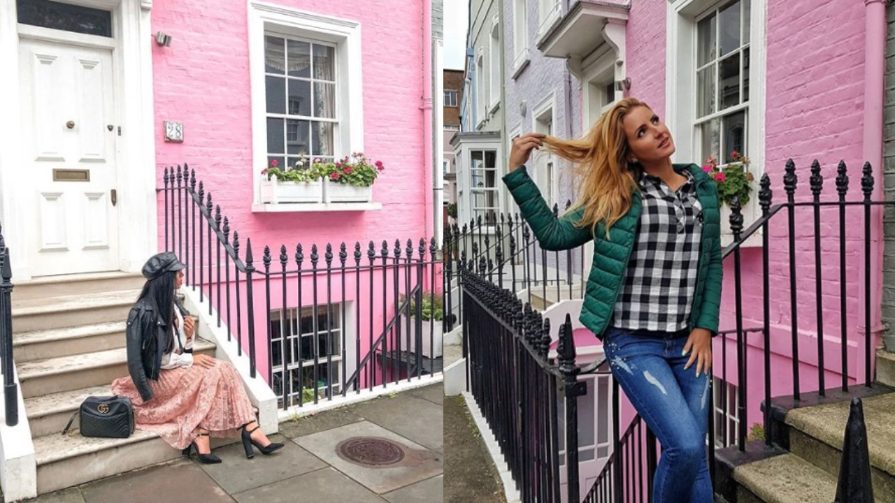 Pink house on London`s most Instagrammable street is...