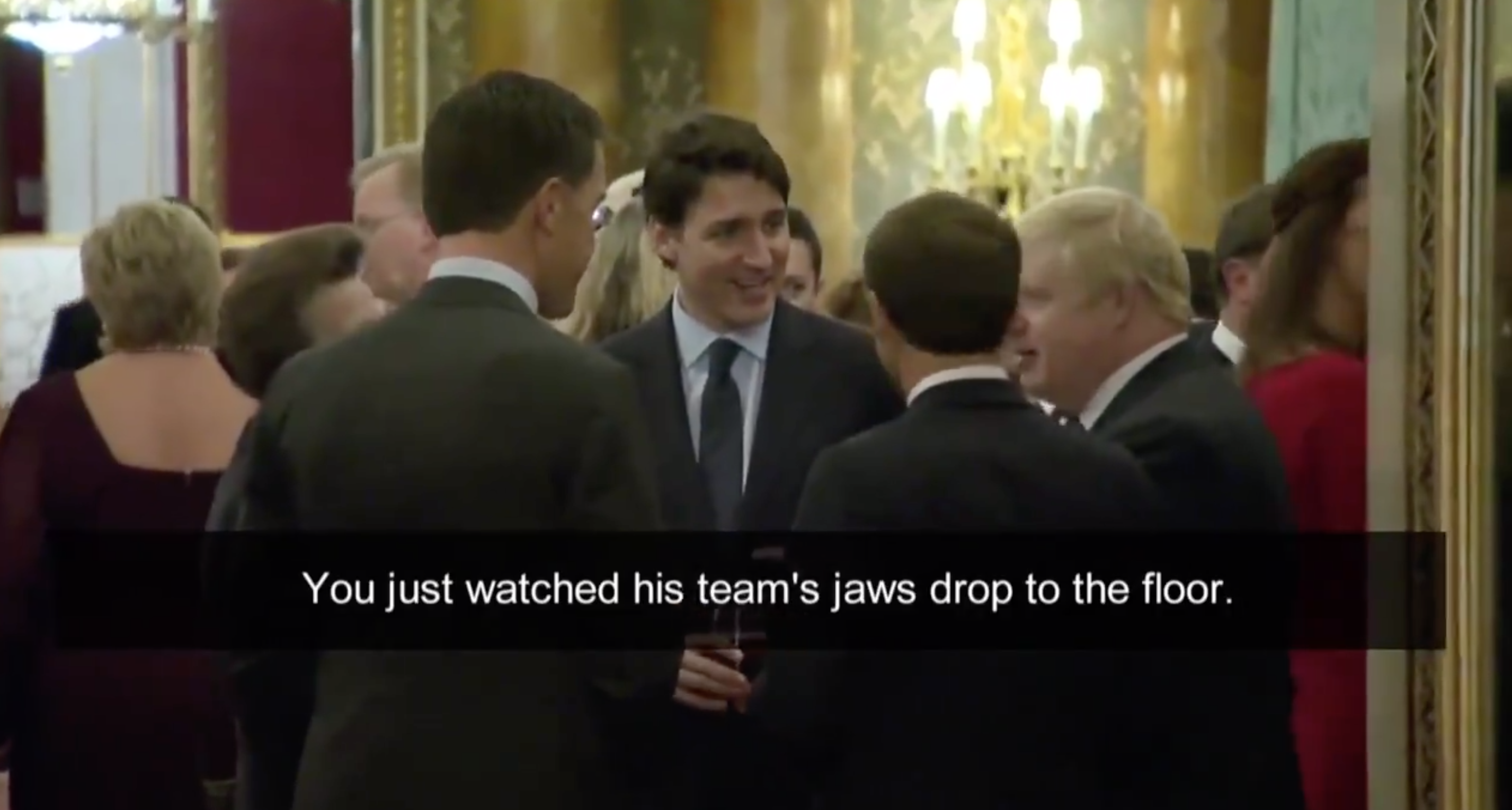 Westlake Legal Group Screen-Shot-2019-12-03-at-11.53.51-PM Trudeau, Johnson, Macron appear to be mocking Trump in surfaced video from NATO summit Joseph Wulfsohn fox-news/tech/companies/twitter fox-news/politics/foreign-policy/alliances fox-news/person/justin-trudeau fox-news/person/emmanuel-macron fox-news/person/donald-trump fox-news/person/boris-johnson fox-news/media fox news fnc/media fnc article 1e2ea33c-6a90-5ac1-a1b4-8b49e9c876dc