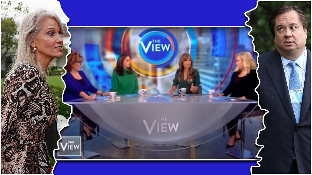 Westlake Legal Group The-view-Conway 'The View' dishes on Twitter feud between the Conways, Sunny Hostin predicts a divorce Joseph Wulfsohn fox-news/politics/executive/white-house fox-news/person/meghan-mccain fox-news/person/joy-behar fox-news/entertainment/the-view fox news fnc/media fnc article 8d3802c9-f5a7-5d27-8ff7-fc181a459376