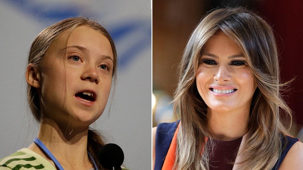White House defends Melania Trump's public silence on president's tweet mocking Greta Thunberg