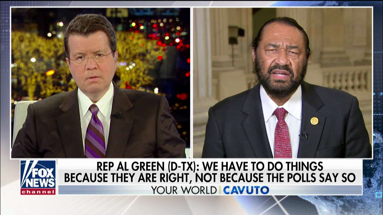 Westlake Legal Group al-green-cavuto Al Green on impeachment support: Martin Luther King 'didn't march on Washington because of polls' fox-news/us/us-regions/southwest/texas fox-news/politics/trump-impeachment-inquiry fox-news/politics/house-of-representatives/democrats fox-news/person/donald-trump fox-news/media/fox-news-flash fox-news/media fox news fnc/media fnc Charles Creitz b6347bea-25fc-5837-925a-4f6f437d076a article