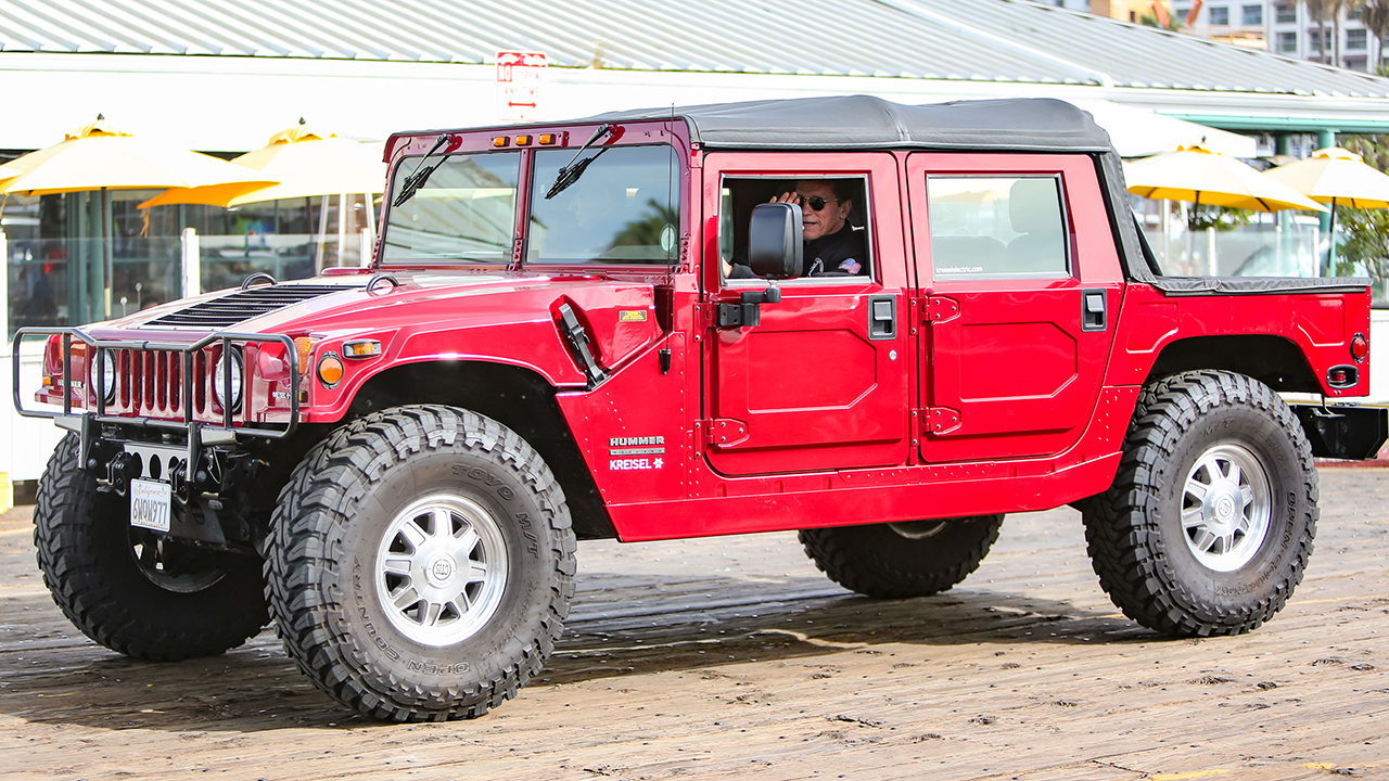 Move over Elon, Arnold Schwarzenegger spotted driving his electric Hummer H1