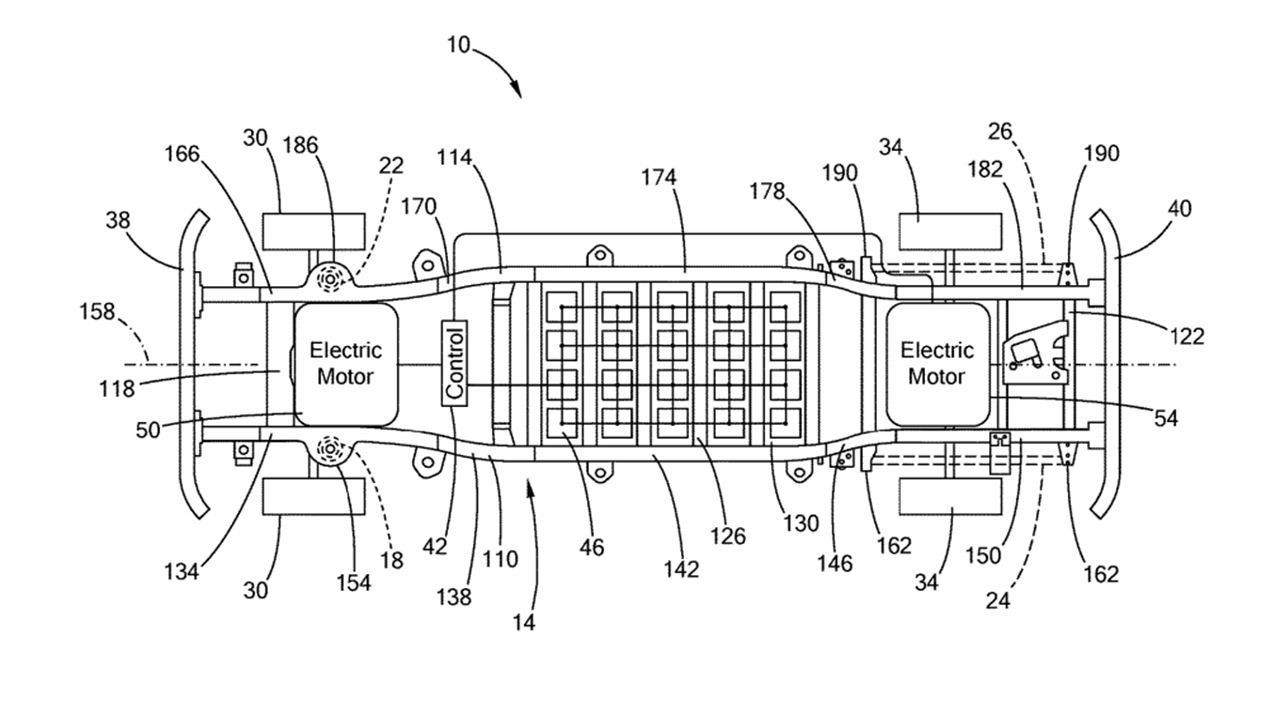 Electric Ford F-150's insides revealed in patent