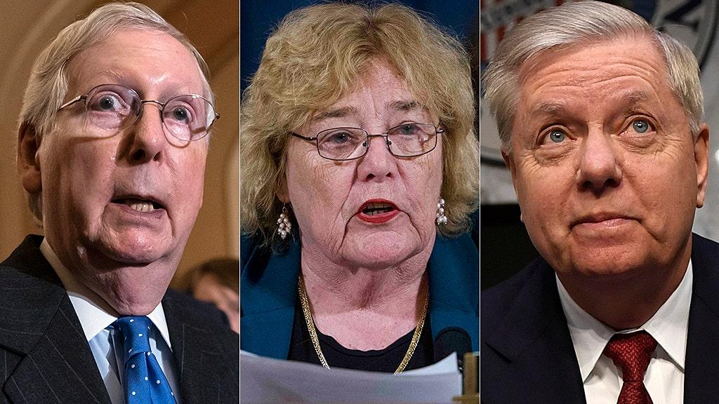 Westlake Legal Group mcconnell-lofgren-graham-AP House Democrat claims top Republican senators looking to 'rig' Trump impeachment trial fox-news/politics/trump-impeachment-inquiry fox-news/politics/senate fox-news/politics/house-of-representatives/democrats fox-news/person/mitch-mcconnell fox-news/person/lindsey-graham fox news fnc/media fnc David Montanaro article 104de211-1020-505a-afb2-10d6eff87965