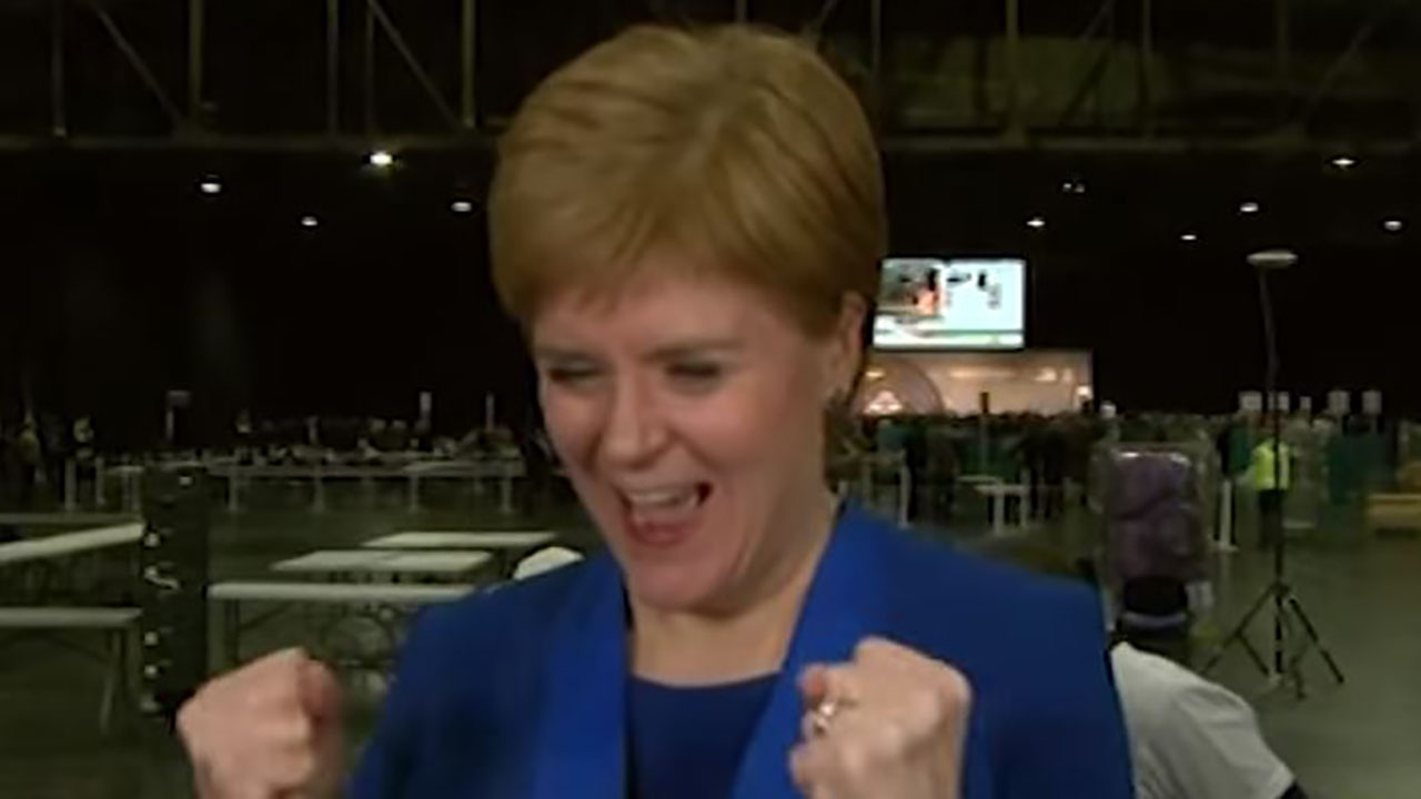 Westlake Legal Group nicola-sturgeon Scotland's Sturgeon caught exuberantly celebrating opposing party defeat in viral video fox-news/world/world-regions/united-kingdom fox-news/entertainment/genres/viral fox news fnc/media fnc c1bb32c1-395c-54b6-adc1-8d889f81170f Brie Stimson article