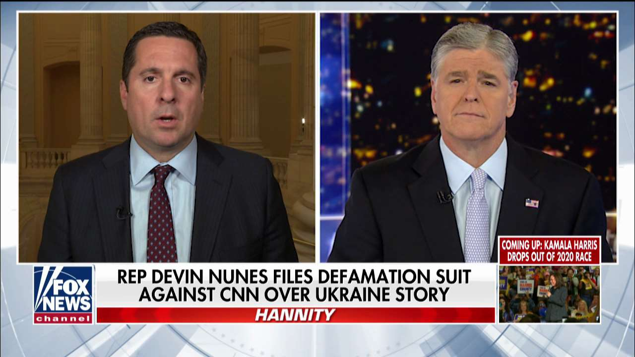 Westlake Legal Group nunes-hannity Devin Nunes on his lawsuit against CNN: Report is the 'absolute definition of fake news' fox-news/world/conflicts/ukraine fox-news/shows/hannity fox-news/politics/house-of-representatives/republicans fox-news/politics/executive/law fox-news/person/joe-biden fox-news/person/devin-nunes fox-news/media/fox-news-flash fox-news/media fox-news/food-drink/recipes/cuisines/eastern-europe fox-news/entertainment/media fox news fnc/media fnc Charles Creitz article 374e166a-dce8-518d-af8e-08b04325c66a