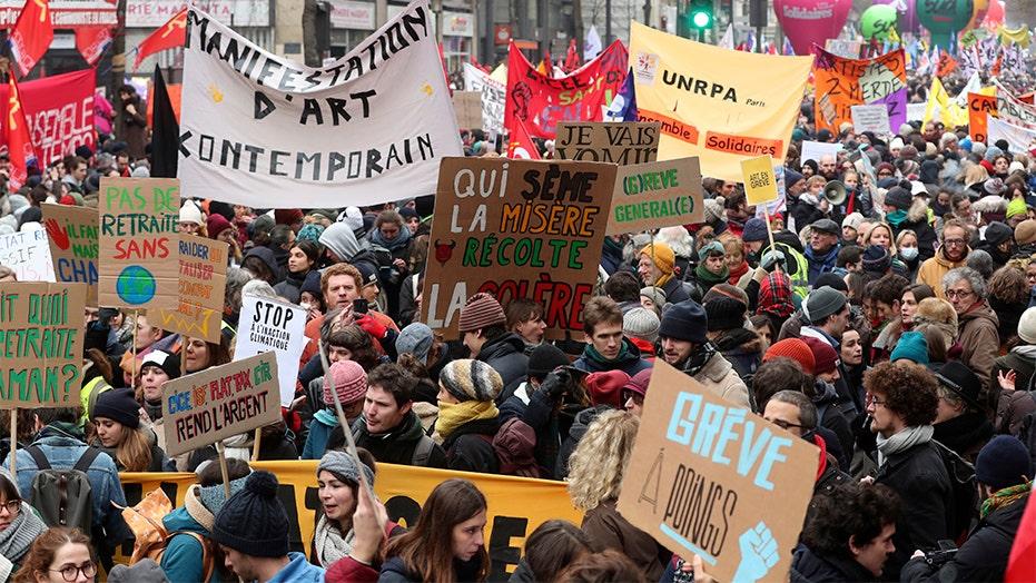 Paris' general strike creates travel nightmare as Eiffel Tower, subway stations closed
