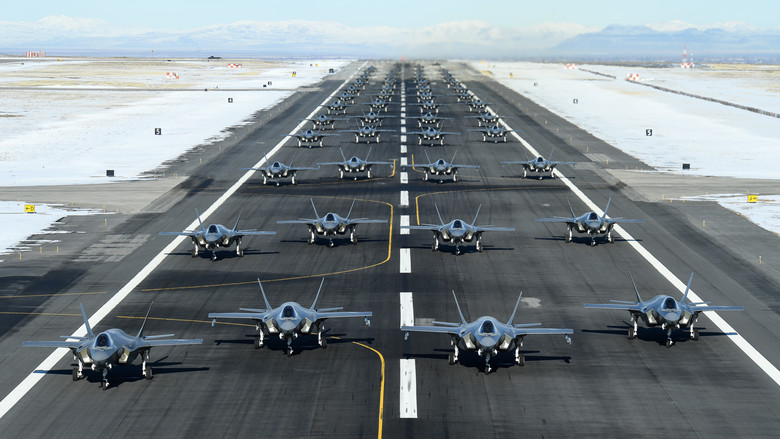 Westlake Legal Group 200106-F-OD616-0014 Elephant Walk at Utah Air Force Base showcases 52 F-35s launching in a row fox-news/us/military/air-force fox-news/tech/topics/us-air-force fox news fnc/us fnc Edmund DeMarche c0861fdb-adf6-53ae-9a7a-535e6477605b article
