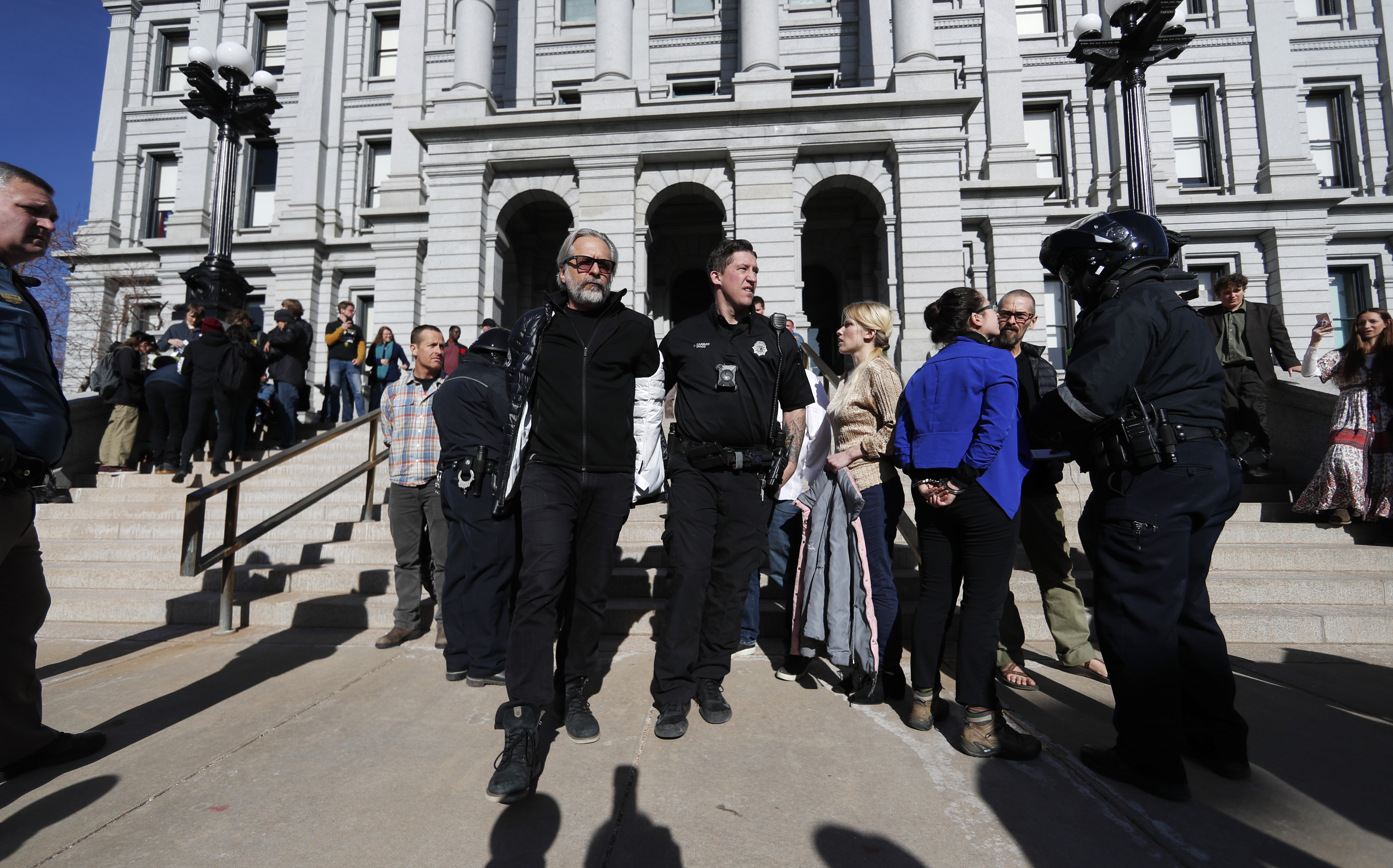 Colorado climate change protesters arrested for demonstration at State Capitol