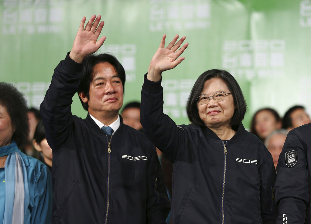 Westlake Legal Group AP20011517455004 Taiwan's leader reelected as voters back tough China stance fox-news/world/world-regions/china fox-news/politics/foreign-policy/state-department fox-news/politics/foreign-policy/secretary-of-state fnc/world fnc e6ce097d-d721-5fab-a245-4e4509433364 Associated Press article