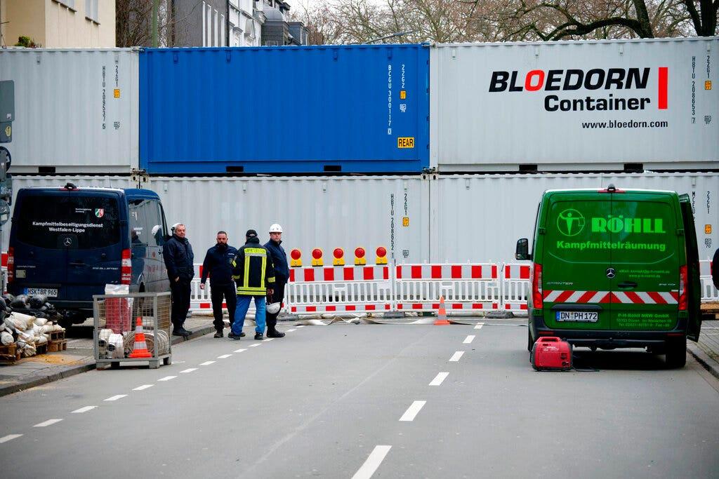 German city defuses rare World War II bombs after mass evacuation