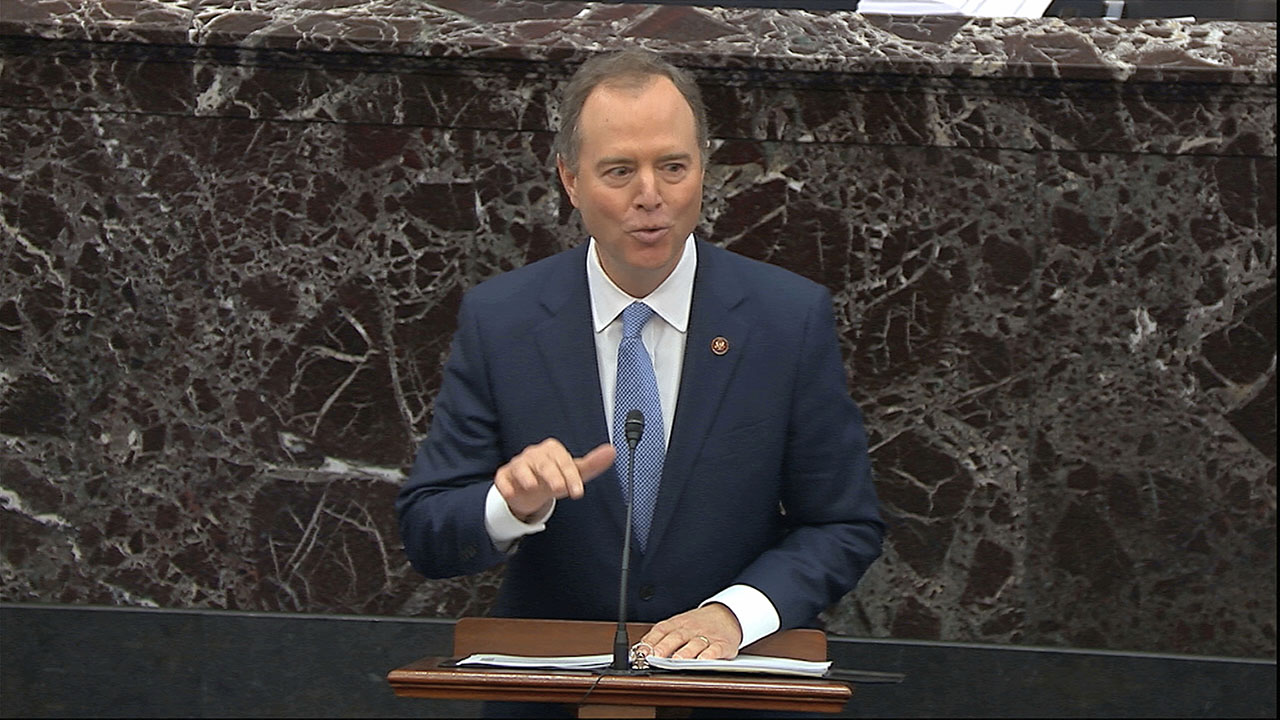 Schiff stands by 'head on a pike' remark in Senate impeachment speech amid GOP furor
