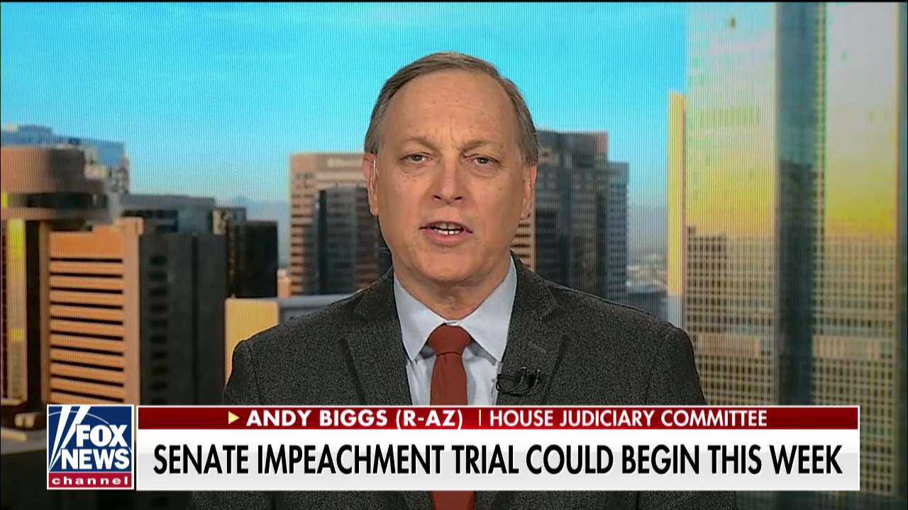 Westlake Legal Group Andy-Biggs- Rep. Biggs: Many Americans tuned out impeachment because of Pelosi's tactics Talia Kaplan fox-news/shows/americas-newsroom fox-news/politics/trump-impeachment-inquiry fox-news/person/nancy-pelosi fox-news/media/fox-news-flash fox news fnc/media fnc article a1581f64-562f-5a20-8900-b209aa0e8255