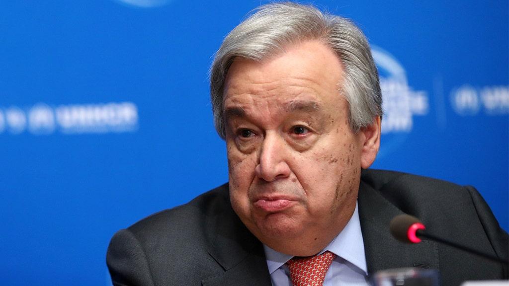 国連のアントニオGuterres:地政学的な緊張関係