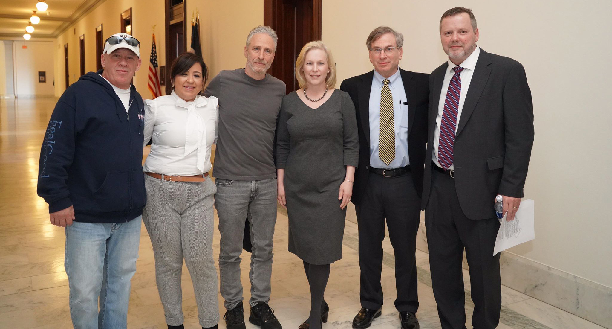 Jon Stewart joins cause of burn pit vets lobbying efforts on Capitol Hill