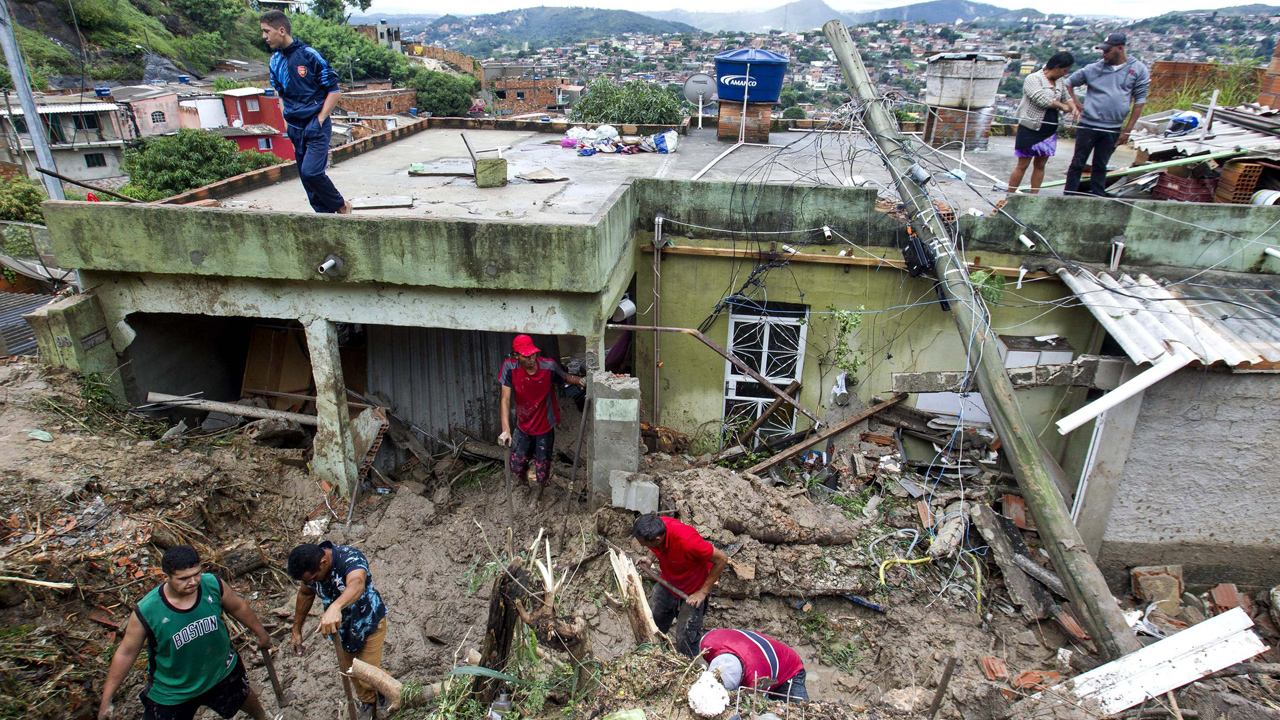 Brazil rainstorms, landslides leave dozens dead, thousands evacuated