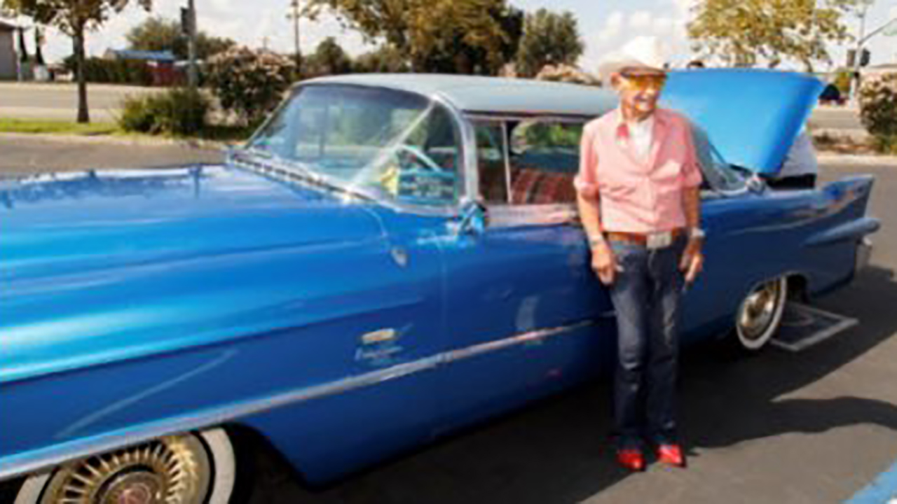 California police find 106-year-old vet's classic Cadillac, gifted by Rita Hayworth, after thieves steal it