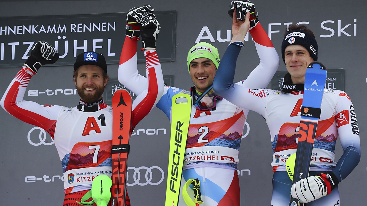Swiss skier Yule mengambil Kitzbuehel slalom untuk 3 menang di tahun 2020