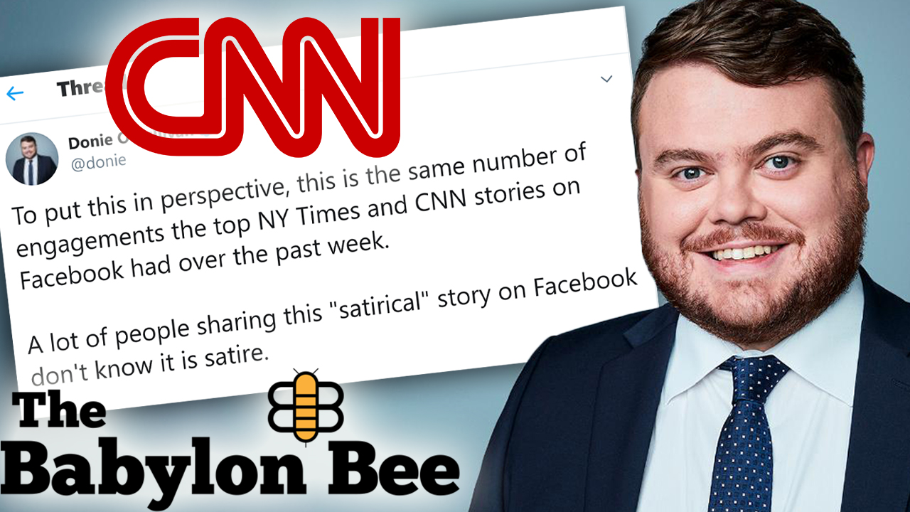 Westlake Legal Group Donie-OSullivan-Tweet CNN reporter sounds alarm over conservative satirical site, gets pummeled on Twitter Joseph Wulfsohn fox-news/tech/companies/twitter fox-news/media fox-news/entertainment/genres/comedy fox news fnc/media fnc d072144c-cb26-55c6-8534-65473af660ad article