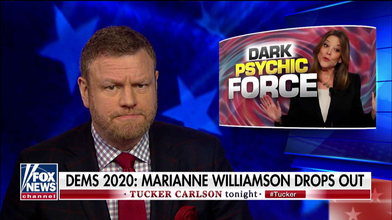 Westlake Legal Group ENC3_132231780383790000 Mark Steyn on Marianne Williamson: 'Love can't buy you north of 0.5 percent in Iowa or New Hampshire' fox-news/shows/tucker-carlson-tonight fox-news/politics/elections/democrats fox-news/politics/2020-presidential-election fox-news/person/marianne-williamson fox-news/person/elizabeth-warren fox-news/person/donald-trump fox-news/media/fox-news-flash fox-news/media fox news fnc/media fnc Charles Creitz article aaebb50a-29db-5195-a966-5cbc03ecf70e