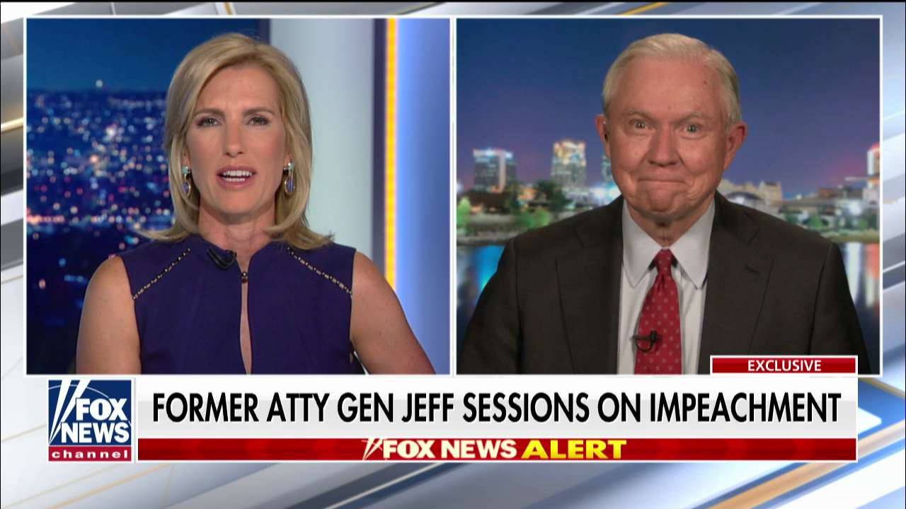 Westlake Legal Group ENC3_132236197670000000 Jeff Sessions: Moderate Republicans should 'toughen up' on Trump impeachment fox-news/us/us-regions/southeast/alabama fox-news/shows/ingraham-angle fox-news/politics/trump-impeachment-inquiry fox-news/politics/senate/republicans fox-news/politics/senate fox-news/politics/2020-senate-races fox-news/person/donald-trump fox-news/media/fox-news-flash fox-news/media fox news fnc/media fnc Charles Creitz article 3a445c01-c572-5b8f-945d-0d7749a6262e
