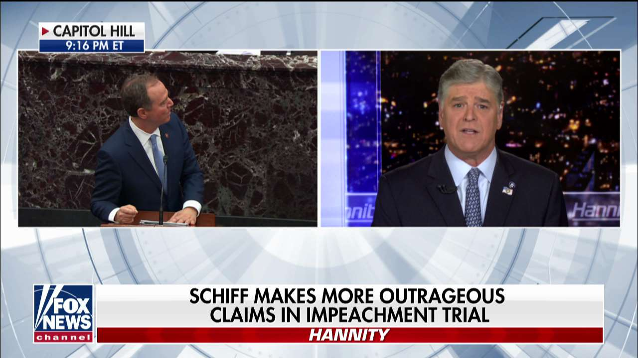 Sean Hannity: Any GOP senators who side with Dems on impeachment will become part of 'charade'