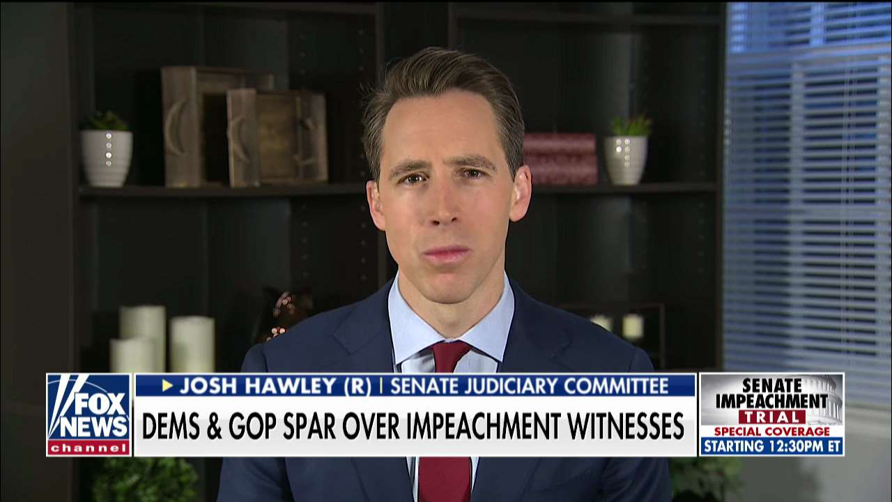 Hawley: If Senate calls impeachment witnesses, the Bidens, Schiff and whistleblower should all testify