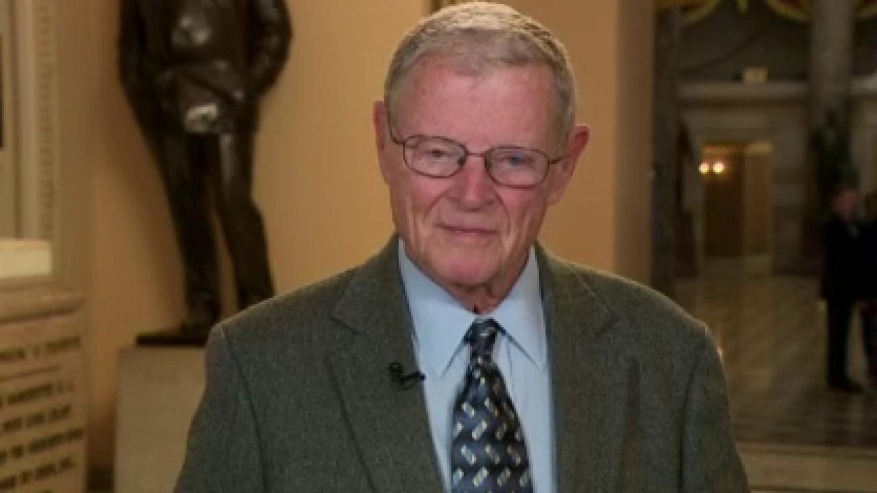 Westlake Legal Group JAMES-INHOFFE Sen. Jim Inhofe: Dems have no case, just want to drag out impeachment ahead of election Julia Musto fox-news/us/military fox-news/us/economy fox-news/us/crime fox-news/shows/fox-friends-weekend fox-news/politics/trump-impeachment-inquiry fox-news/politics/senate/republicans fox-news/politics/senate/democrats fox-news/politics/senate fox-news/politics/executive/white-house fox-news/politics/executive/law fox-news/politics/elections/house-of-representatives fox-news/politics/elections fox-news/politics/2020-presidential-election fox-news/person/donald-trump fox-news/person/adam-schiff fox-news/media/fox-news-flash fox news fnc/media fnc article 47e3f1bf-2706-5a56-9807-a888e1252c3a