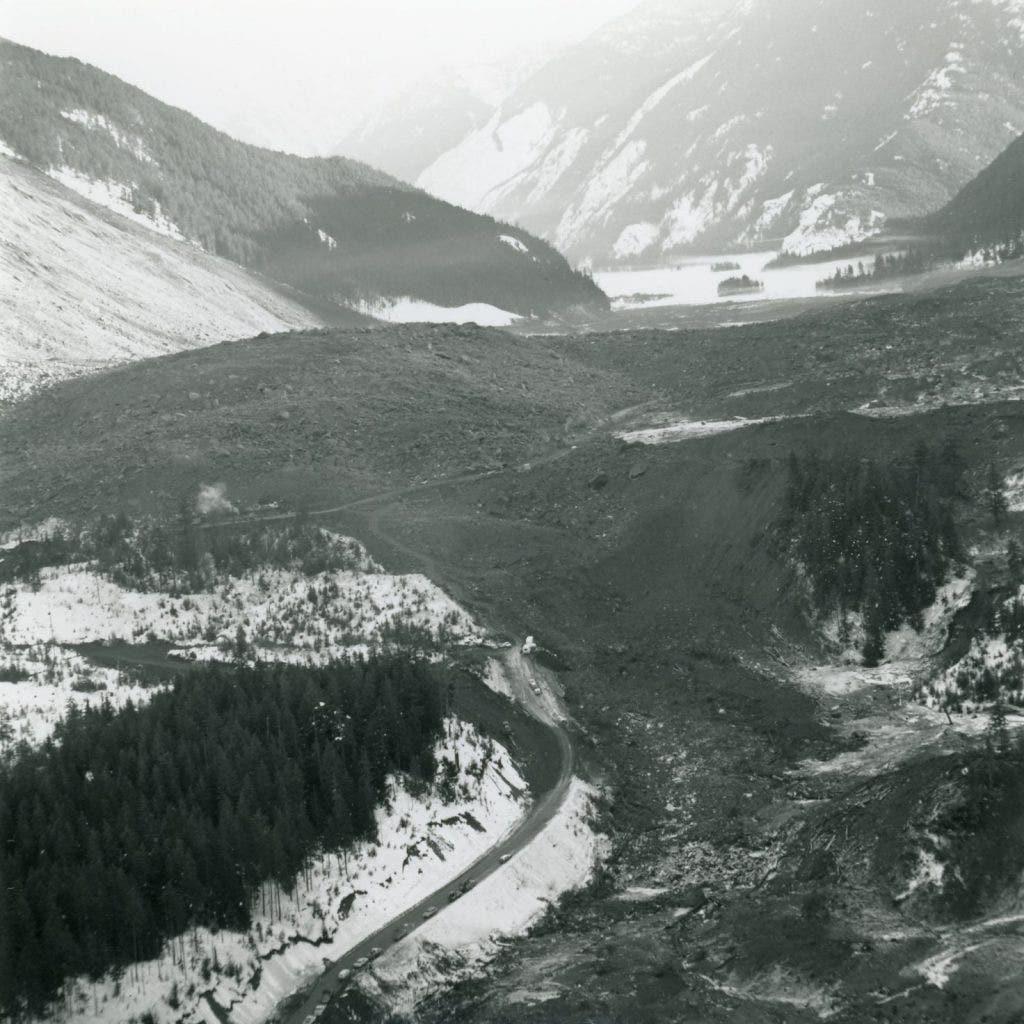 Never-before-seen images offer chilling glimpse of devastating 1965 landslide