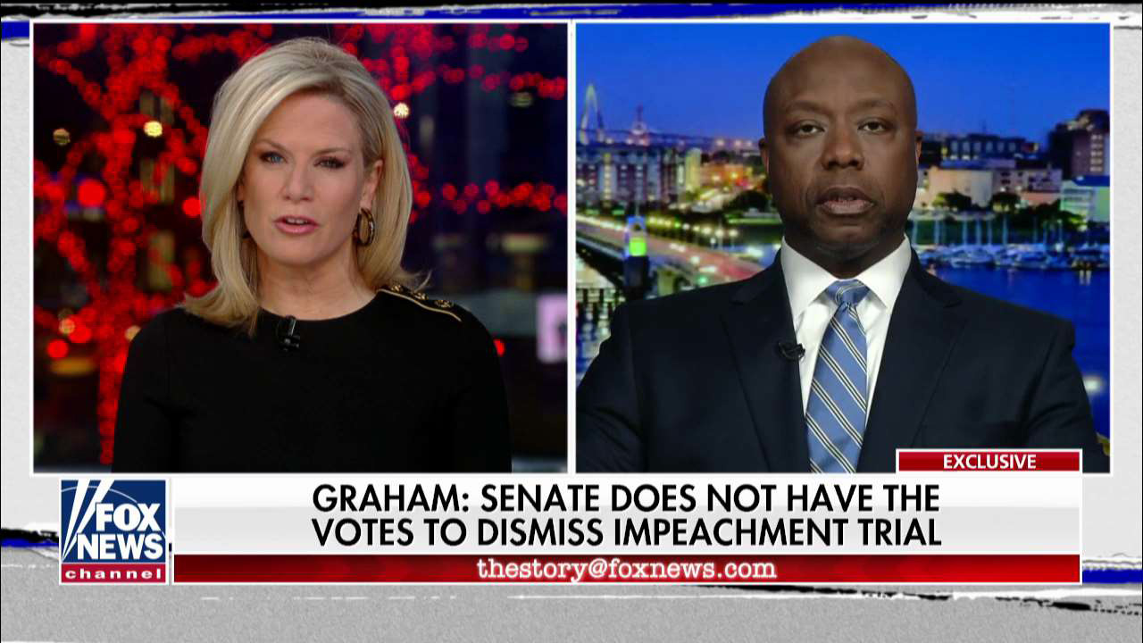 Westlake Legal Group MacCallumScott Sen. Tim Scott: Impeachment trial witness debate about 'removing at least four' GOP senators from office Victor Garcia fox-news/shows/the-story fox-news/politics/trump-impeachment-inquiry fox-news/media/fox-news-flash fox-news/media fox news fnc/media fnc cfbefe5b-c9a1-5bae-a101-5891f866730c article