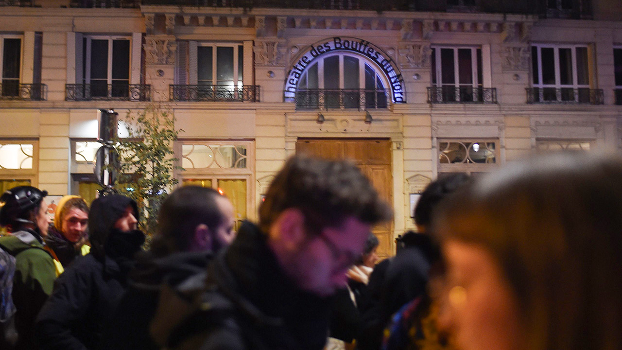Protesters mar Macron's Paris theater date with wife in clashes with police