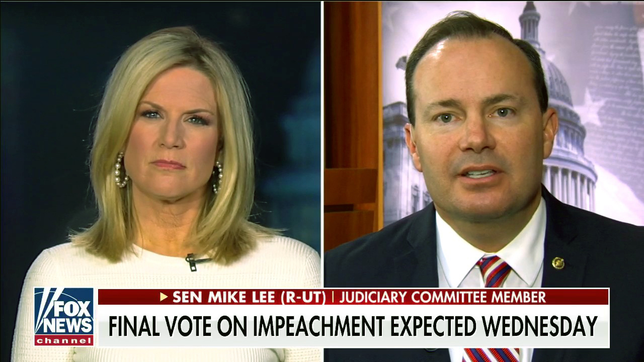 Westlake Legal Group McCallumLee Mike Lee on Senate vote against witnesses: We dealt with 'articles of impeachment as they sent them to us' Victor Garcia fox-news/shows/the-story fox-news/politics/trump-impeachment-inquiry fox-news/politics/senate/republicans fox-news/media/fox-news-flash fox-news/media fox news fnc/media fnc f2d95550-d5cf-5071-b901-87d1bc13b07f article