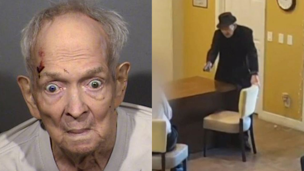 Graphic video released by Las Vegas police shows 93-year-old opening fire at apartment complex office thumbnail