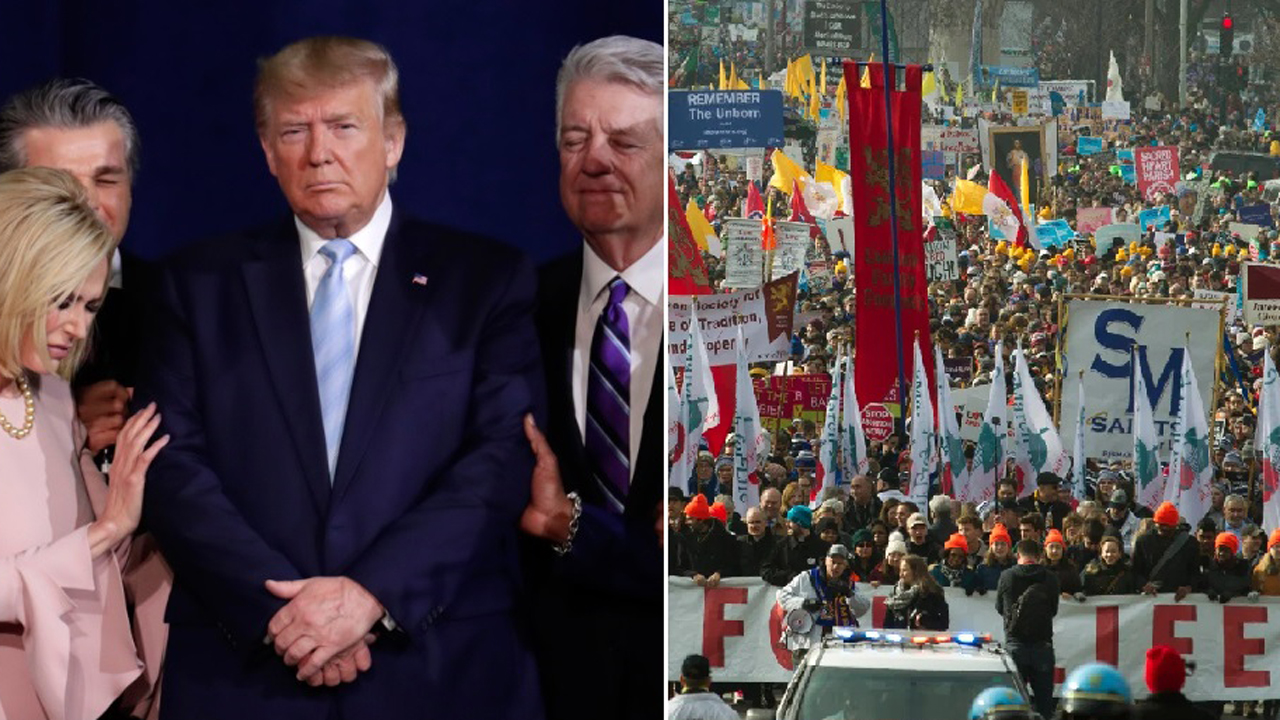 March for Life sees more evangelical support as Trump becomes first president to attend
