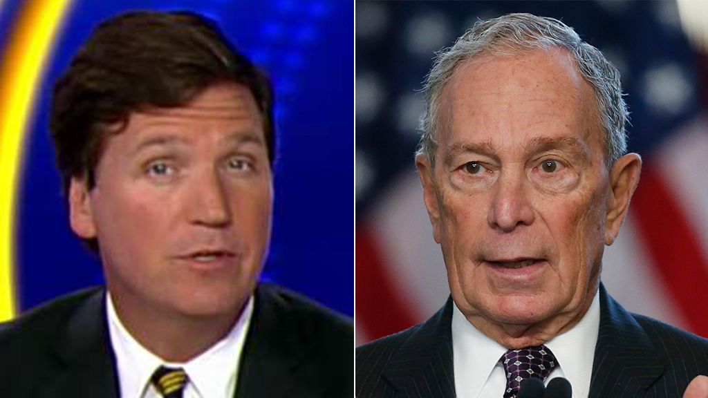 Tucker Carlson tells Michael Bloomberg: Stop apologizing for your existence