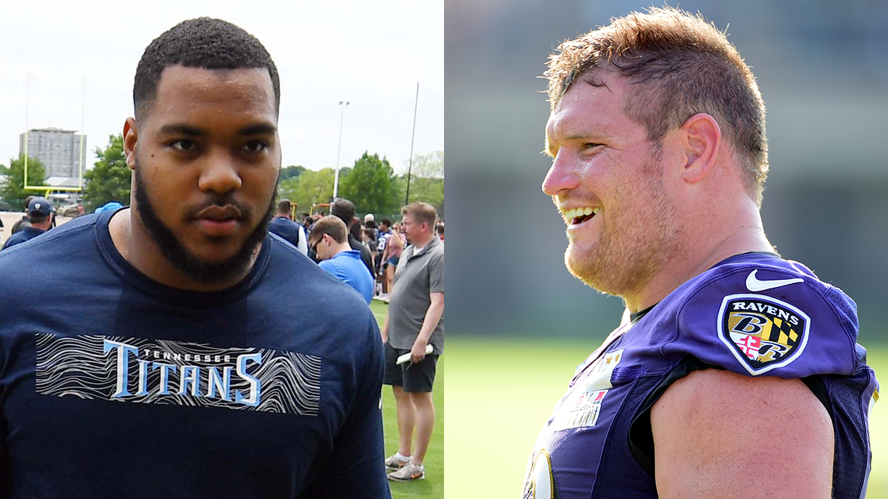 Westlake Legal Group Yanda-Simmons-RT Ravens' Marshal Yanda accuses Titans' Jeffery Simmons of spitting in his face during playoff game Ryan Gaydos fox-news/sports/nfl/tennessee-titans fox-news/sports/nfl/baltimore-ravens fox-news/sports/nfl fox news fnc/sports fnc article 7233d7c5-1d7d-587a-93a1-5802f0e4c217