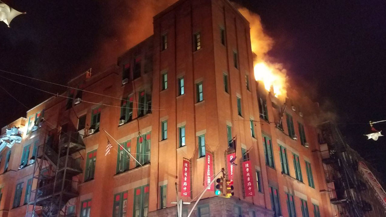 Fire in New York City's Chinatown threatens museum archive in historic building — just before Lunar New Year