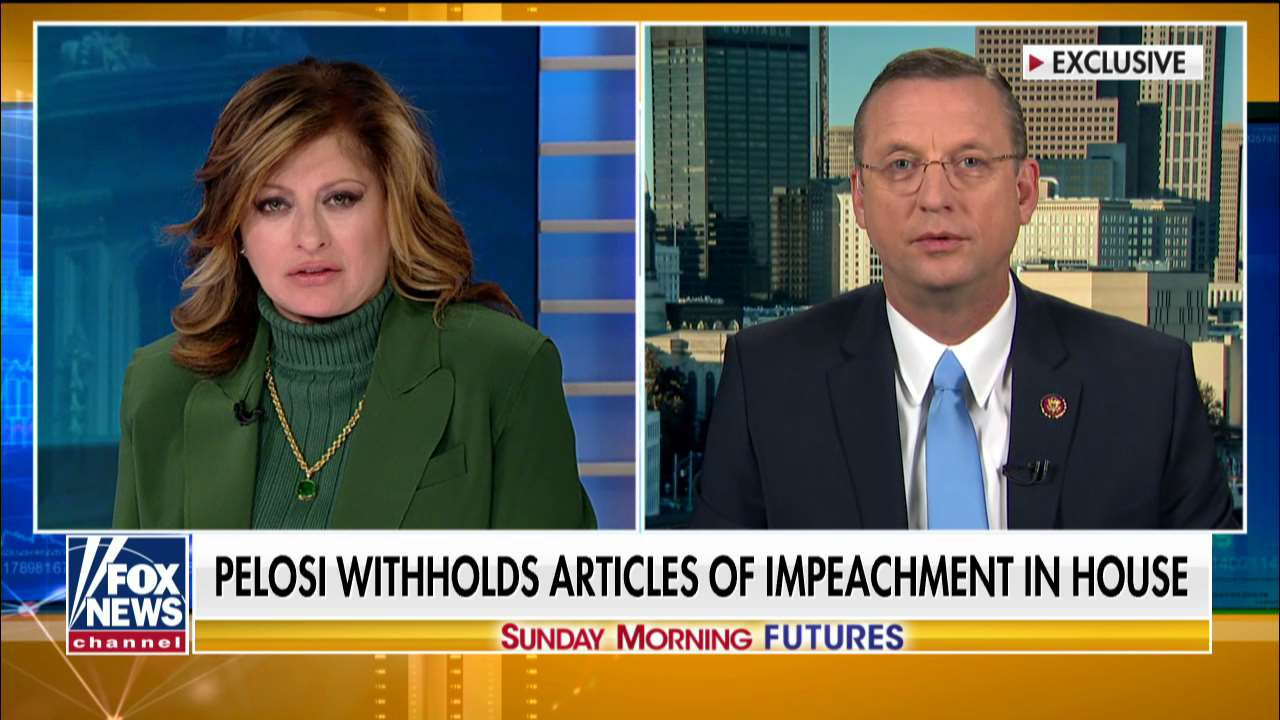 Westlake Legal Group collins-on-futures Doug Collins reacts to Pelosi withholding impeachment articles: 'She had a ghost of Christmas past' Talia Kaplan fox-news/shows/sunday-morning-futures fox-news/politics/trump-impeachment-inquiry fox-news/politics/senate fox-news/politics/house-of-representatives fox-news/person/nancy-pelosi fox-news/person/mitch-mcconnell fox-news/media/fox-news-flash fox news fnc/media fnc article 064daebf-345c-526e-9981-33e07dd36256