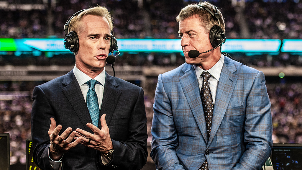 Troy Aikman and Joe Buck lead FOX's Super Bowl reporting team for sixth time