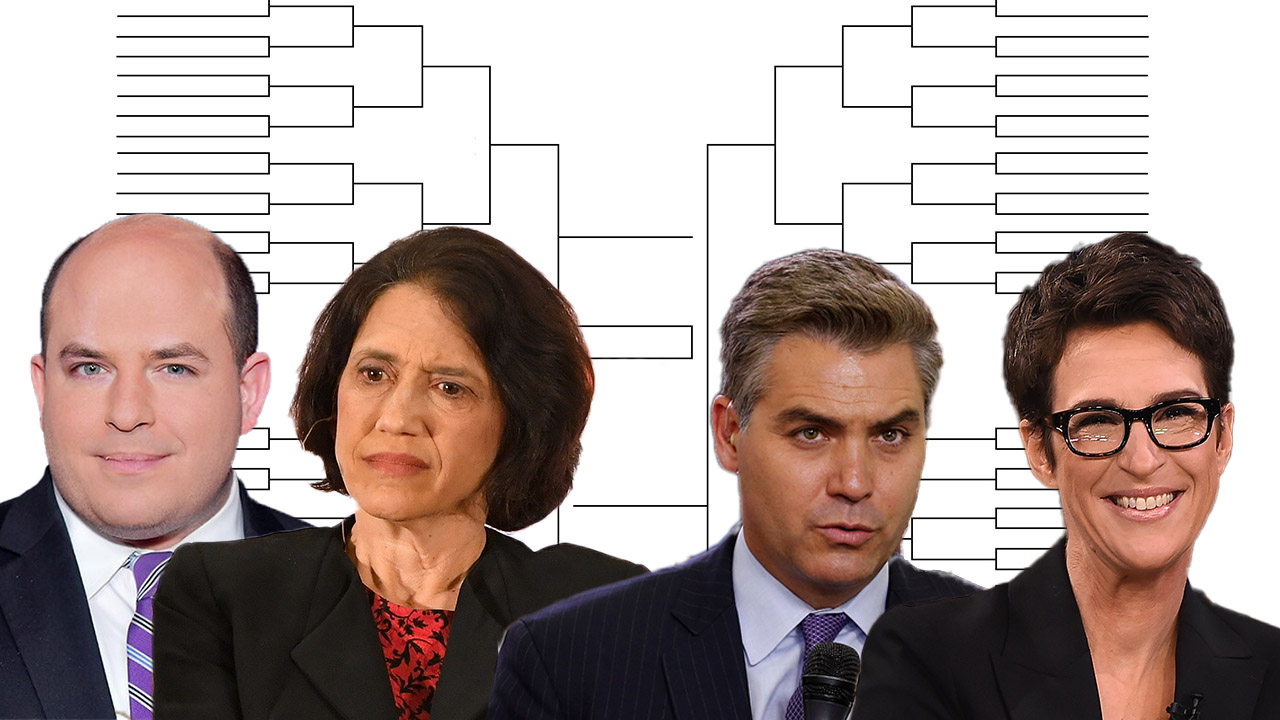 CNN Brian Stelter, Jim Acosta bergabung MSNBC Rachel Maddow, Jennifer Rubin di 'Liberal Hack Turnamen' Final Four