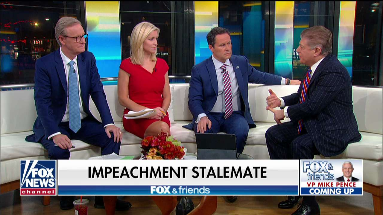 Westlake Legal Group napolitano Napolitano: Some Democrats' patience is 'wearing thin' with Pelosi's impeachment delay fox-news/shows/fox-friends fox-news/politics/trump-impeachment-inquiry fox-news/politics/elections/senate fox-news/politics/elections/republicans fox-news/politics/elections/democrats fox-news/person/nancy-pelosi fox-news/person/mitch-mcconnell fox-news/media/fox-news-flash fox news fnc/media fnc David Montanaro article 4179bf90-06e0-5e9a-bc27-be99657ecbb1