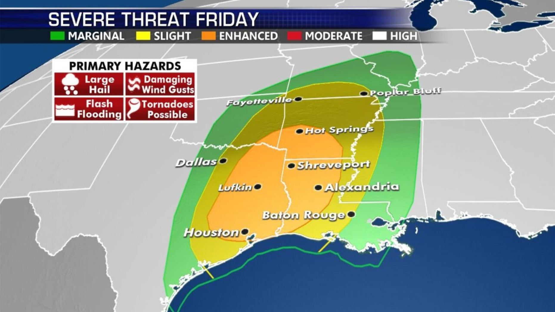 Westlake Legal Group severe-threat-friday Tornadoes hit Missouri, Oklahoma, as severe storms move east TERRY WALLACE JEFF MARTIN fox-news/us/us-regions/southwest/texas fox-news/us/us-regions/southwest/oklahoma fox-news/us/us-regions/southwest fox-news/us/us-regions/midwest/missouri fox-news/us/us-regions/midwest/arkansas fox-news/us/disasters/tornado fnc/us fnc Associated Press article 9f8e133b-1c96-5b5d-89ad-dd1d4cfc04d1