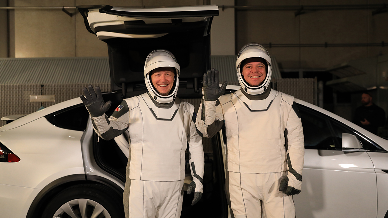 SpaceX crews will ride to rockets in the Tesla Model X