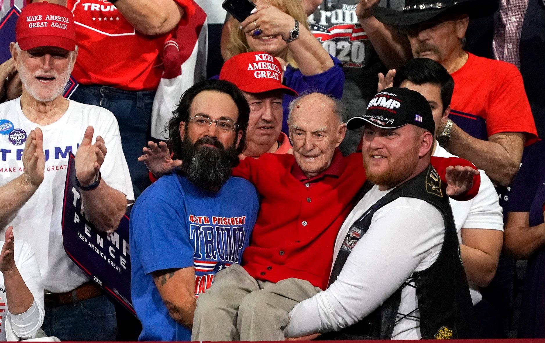 Arizona veteran Ervin Julian -- carried to seat at Trump rally -- dead at 100: report