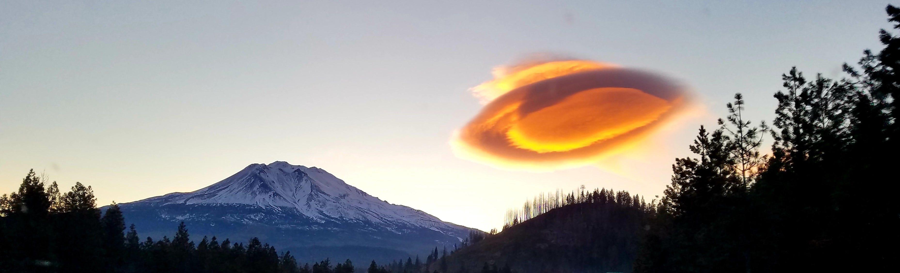 Lenticular Cloud near Mt. Shasta, California