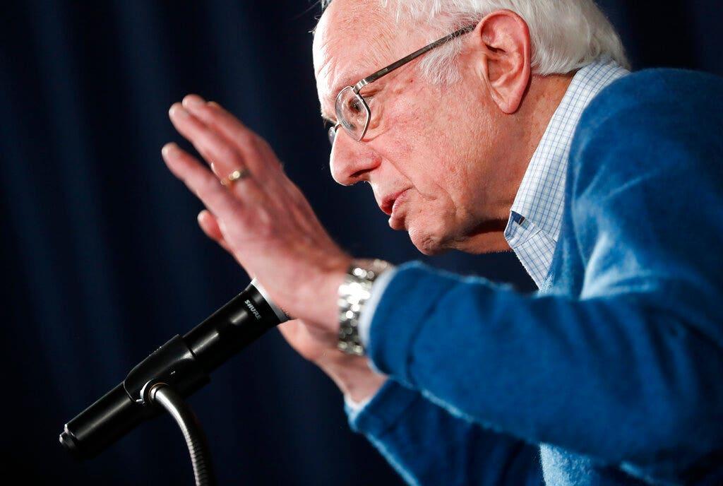 Sanders soars past Biden, Bloomberg in national poll